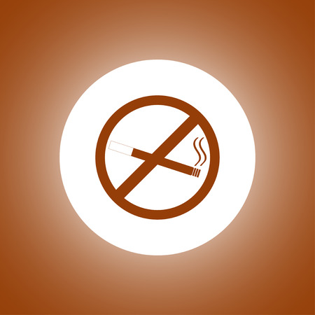 No smoking sign. Flat design style