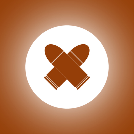 bullet icon: bullet icon. Flat design style Illustration