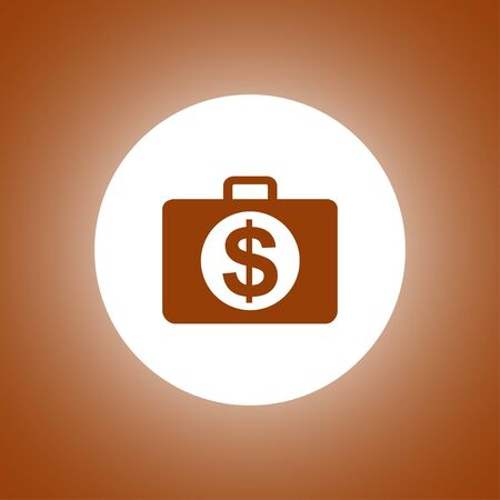 financial icon. Flat design style