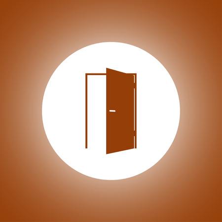 doorknob: Door icon. Flat design style