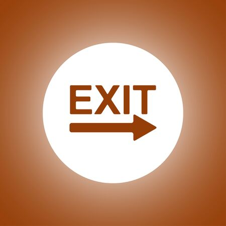 Exit icon - vector illustration. Flat design style