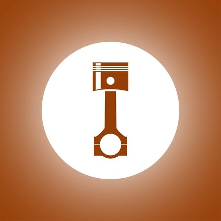 Piston icon. Flat design style