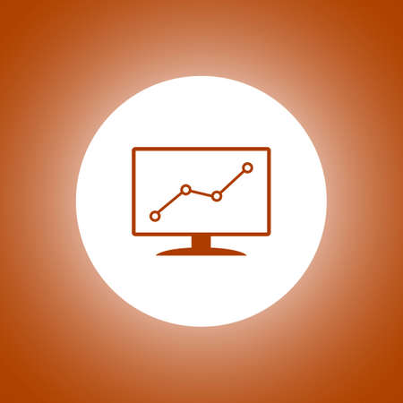 descending: Computer monitors with different graphs, vector  illustration