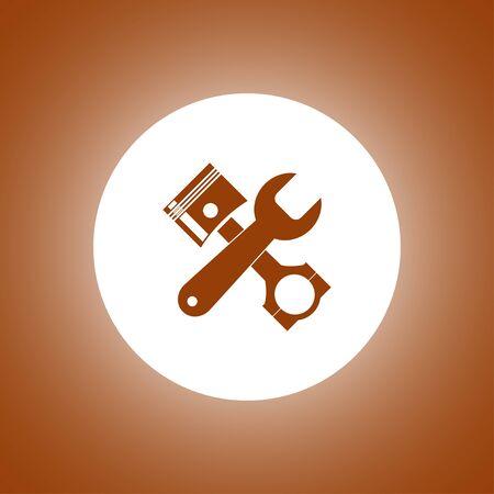 singn: Service simbol. Repair singn. Vector flat Illustration
