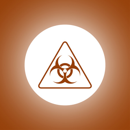 infectious waste: Vector biohazard sign or icon, flat Illustration