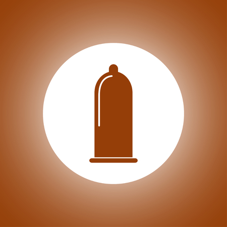 condoms: Condoms icon, Vector flat Illustration