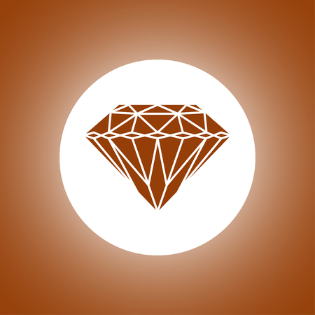 Diamond icon - Vector illustration
