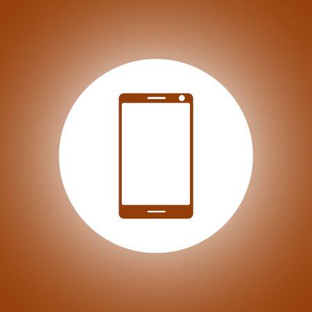 smartphone icon, vector illustration flat Illustration