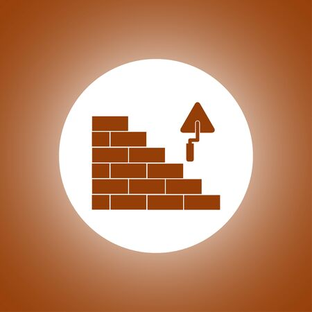 bricks icon. Flat design style