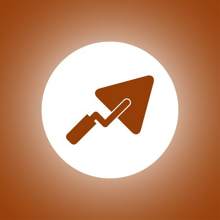trowel icon. Flat design style