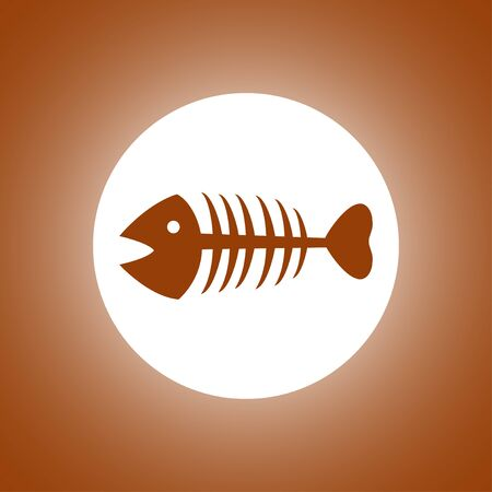 Fish skeleton. Flat design style