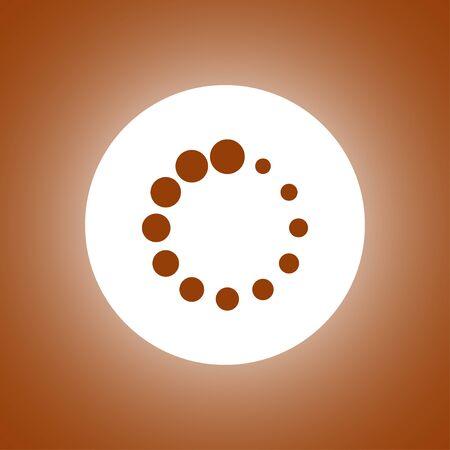 Vector circular loading icon. Flat design style