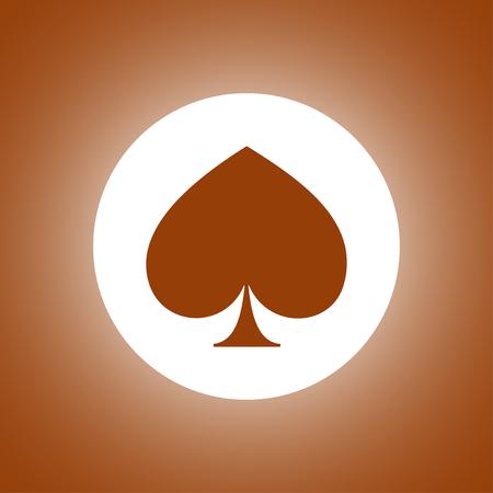 poker icon. Flat design style