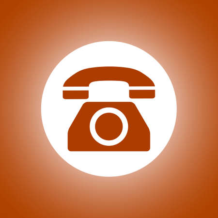 Vector icon of a phone. Flat design style