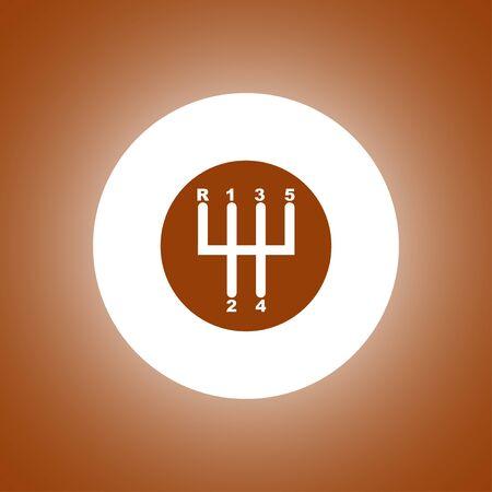 shifter: Manual Transmission icon. Modern design flat style Illustration