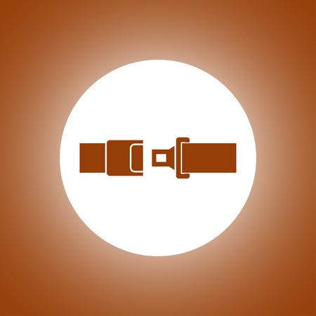 seatbelt: safe belt. Modern design flat style