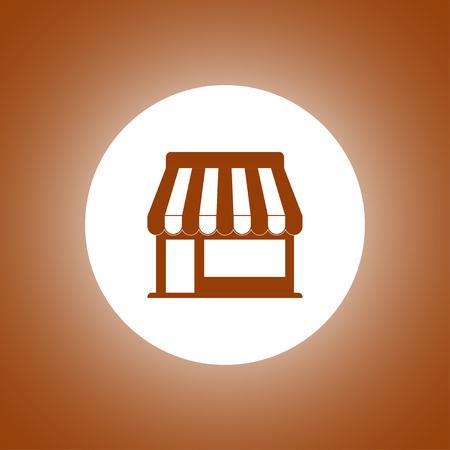 convenient: Store icon. Vector concept illustration for design. Illustration