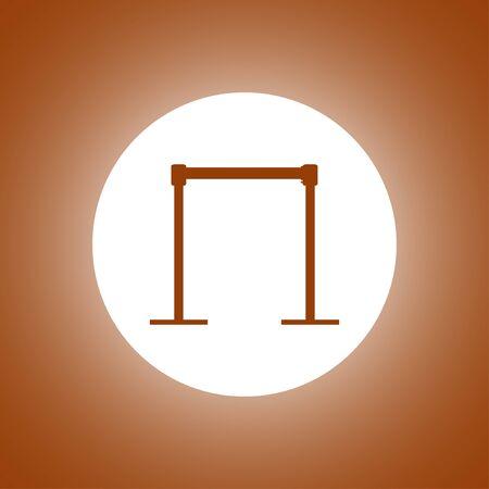 rope barrier: barricade icon. Vector concept illustration for design. Illustration