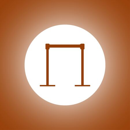 barricade icon. Vector concept illustration for design. Illustration