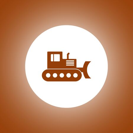 earth mover: Excavator icon. Vector concept illustration for design.