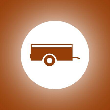 Car trailer Icon. Vector concept illustration for design. Illustration