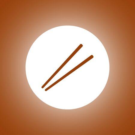 Chopsticks flat icon for food apps and websites Illustration