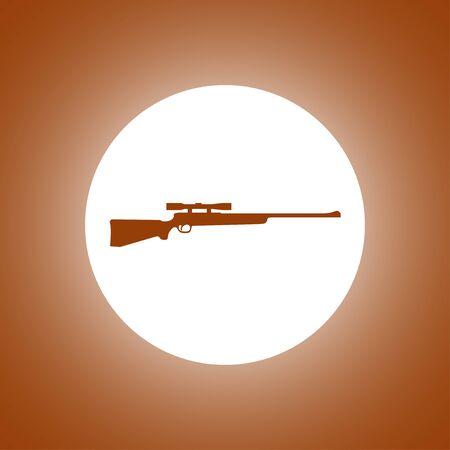 sniper rifle: Sniper Rifle icon. concept illustration for design.