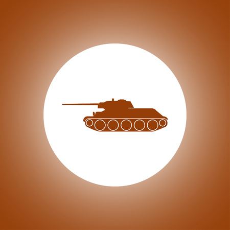 cold war: Tank icon. Vector concept illustration for design. Illustration