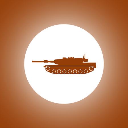 firepower: Tank icon. Vector concept illustration for design. Illustration