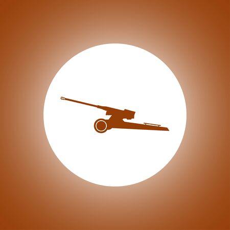 artillery: Artillery icon. Vector concept illustration for design. Illustration