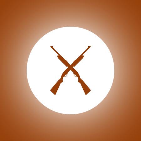 launcher: Shotgun icon. Vector concept illustration for design.