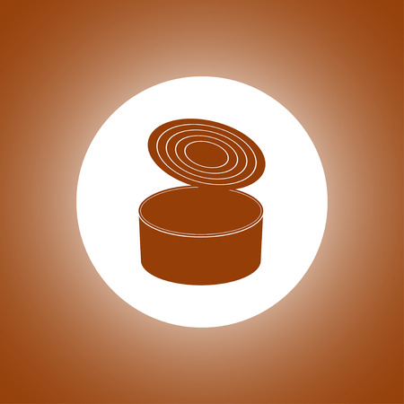 cans - canned food. Vector concept illustration for design. Illustration