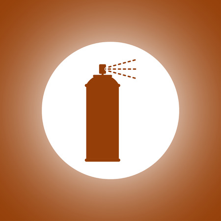 compressed air: Spray icon. Vector concept illustration for design.