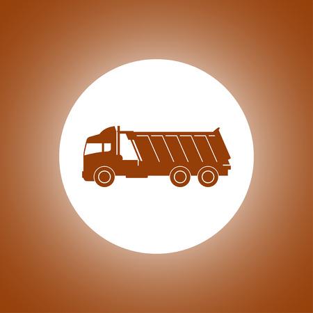 Truck icon. Vector concept illustration for design Illustration