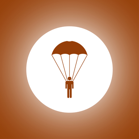 dependable: Parachute jumper. Vector concept illustration for design. Illustration