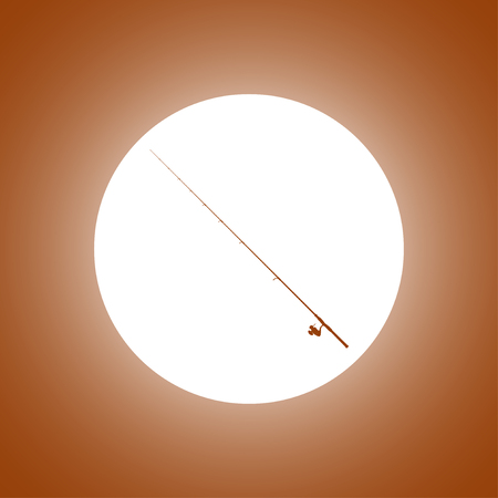 fishing rod icon. Vector concept illustration for design. Illustration