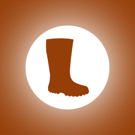 Boot vector icon. Concept illustration for design. Vetores