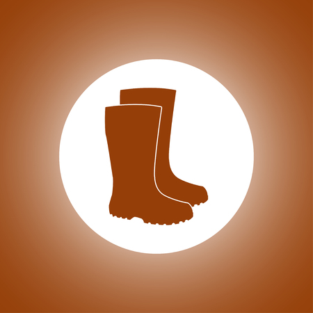 female soles: Boot vector icon. Concept illustration for design.