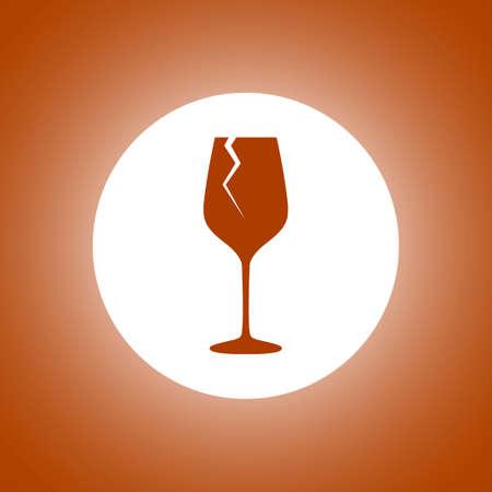 Wine glass icon. Concept illustration for design.