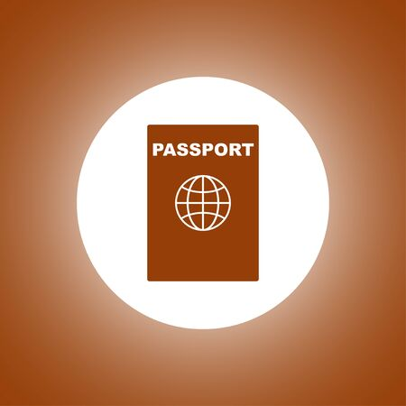 emigration and immigration: Passport icon. Vector concept illustration for design. Illustration
