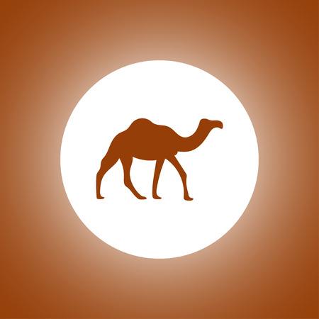 Camel Icon. Vector concept illustration for design.