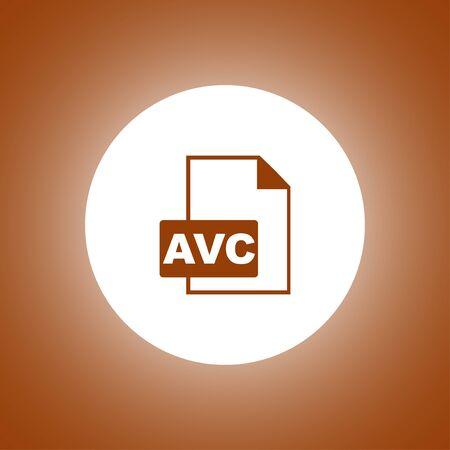 AVC Icon. Vector concept illustration for design. Illustration