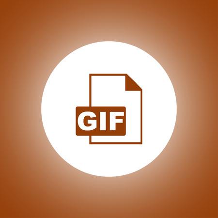 GIF Icon. Vector concept illustration for design.