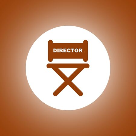 director chair icon. Concept illustration for design.