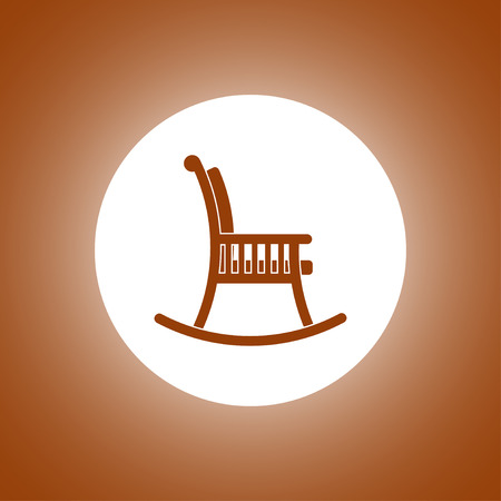wood chair: rocking chair icon. Concept illustration for design. Illustration