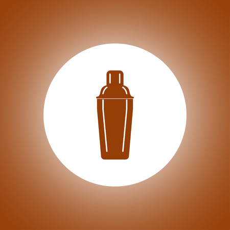 cobbler: Cocktail shaker icon. Concept illustration for design.