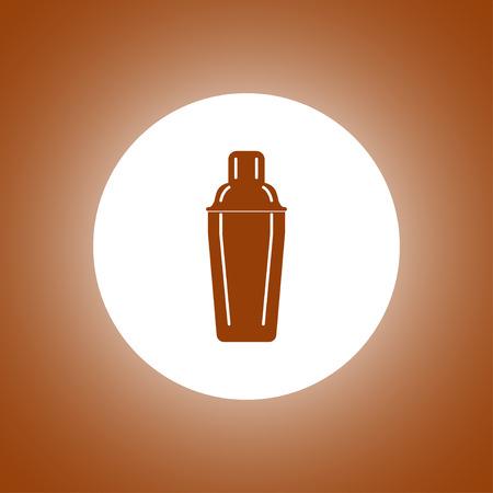 SHAKER: Cocktail shaker icon. Concept illustration for design.