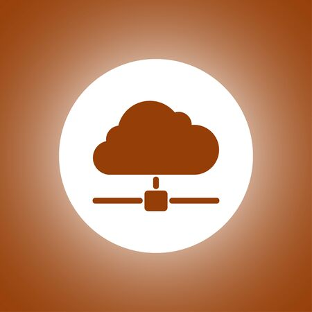 The universal vector icon on the cloud computing theme. Concept illustration for design.