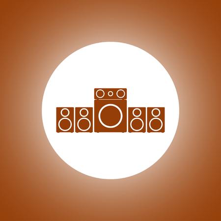 Speaker icon. Vector concept illustration for design.