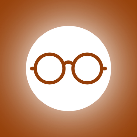 spectacle frame: Glasses icon. Flat design style eps 10